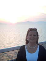 Brenda at sunset on the cruise