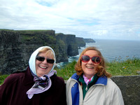 Barb and Brenda and the cliffs of Moher