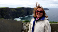 Brenda at the cliffs of Moher